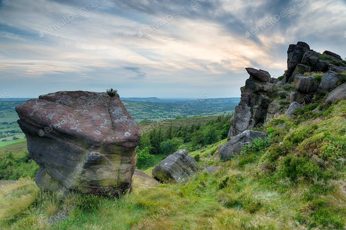 The Roaches in the Peak District