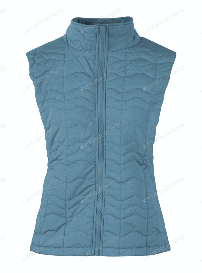 Bodywarmer Blue isolated