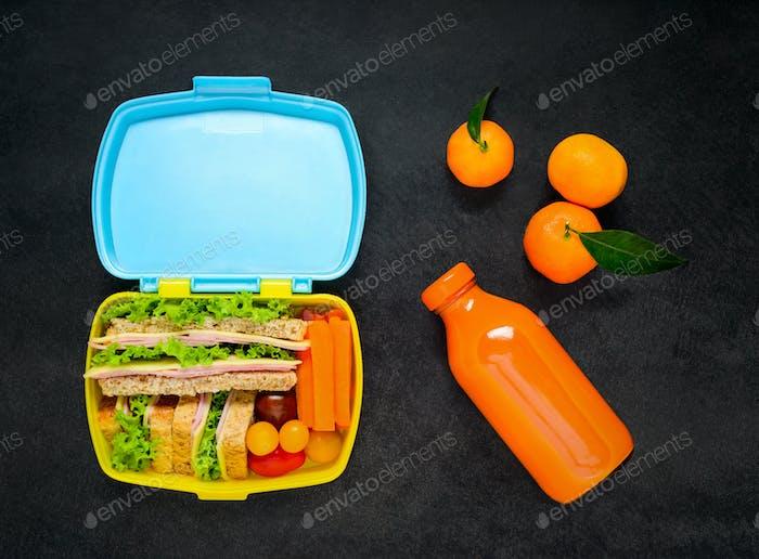 Lunch Box with Orange Juice