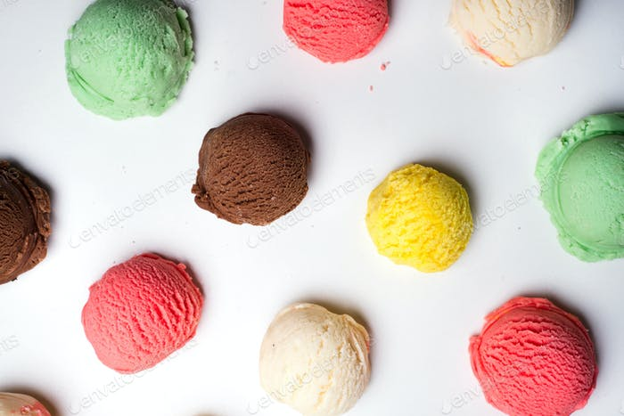 Ice cream scoops collection