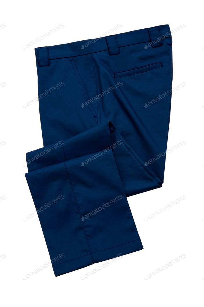 Blue Pants, Trousers on white background