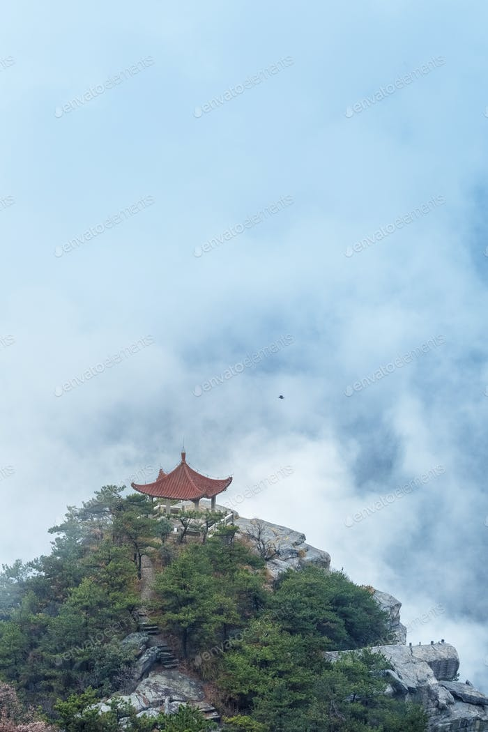 lushan Berglandschaft beobachten Wolken Pavillon