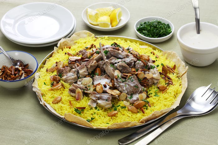 mansaf, Jordanian national dish
