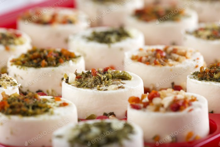 Cheese appetizer with herbs