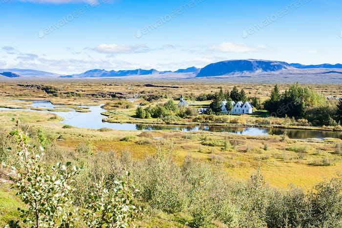Blick auf das Rifttal im Nationalpark Thingvellir