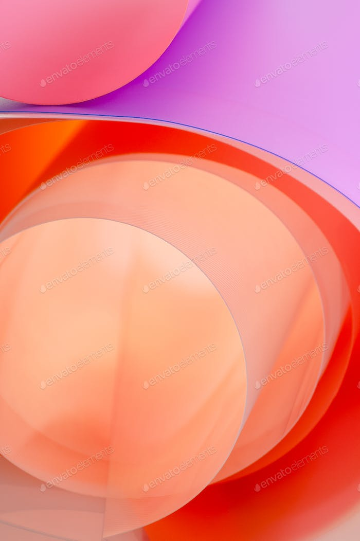 Background from multi-colored arches with a gradient. Vertical p