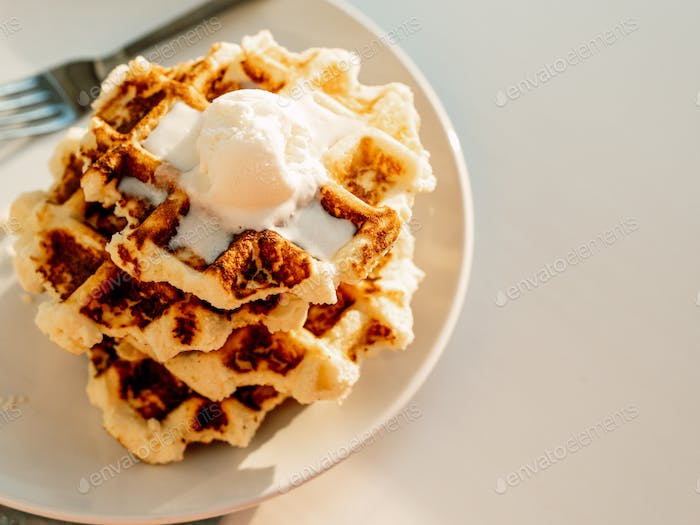 Ricotta cheese chaffles or waffles