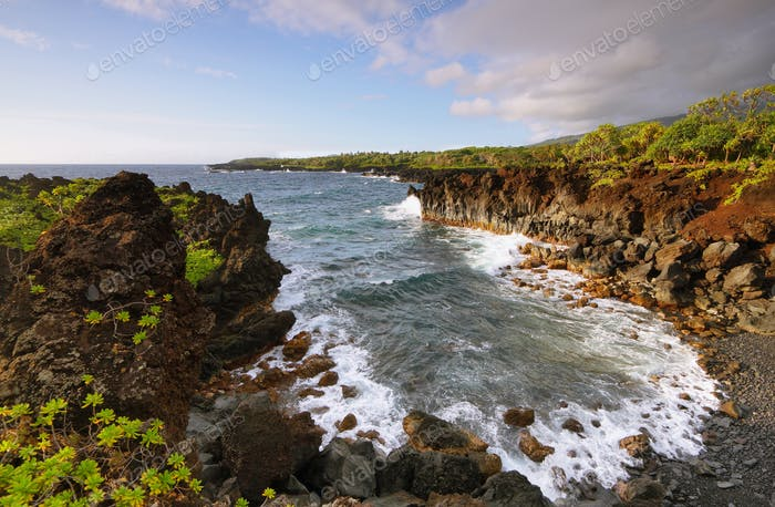 Ocean views in Waianapanapa State park