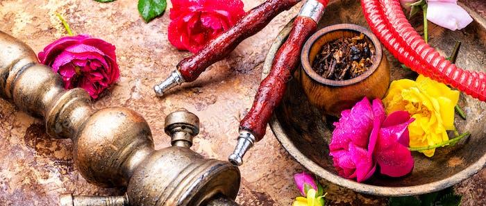 Shisha with rose tobacco