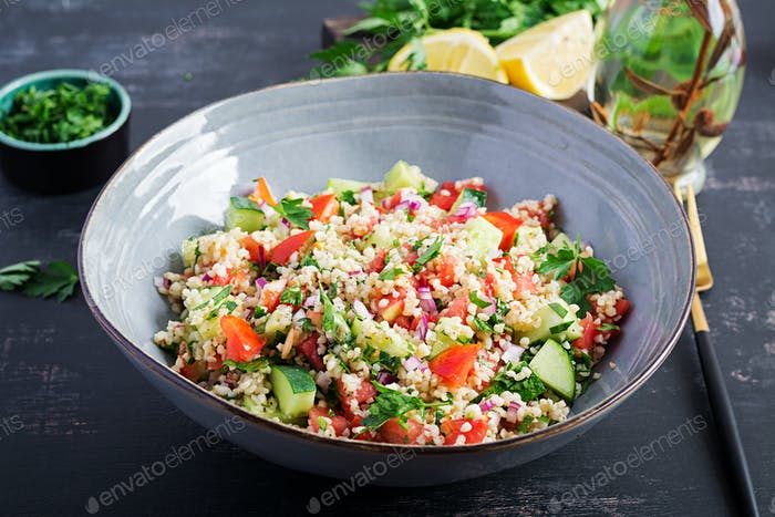 Tabbouleh salad.Traditional middle eastern or arab dish.