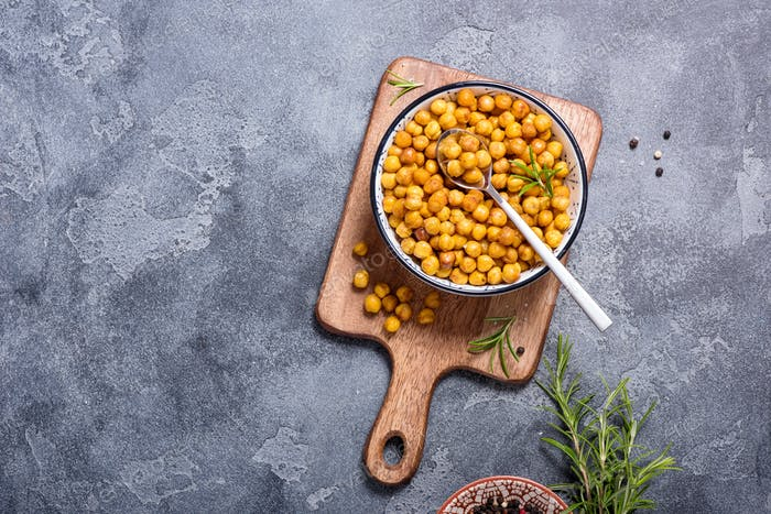 Roasted Chickpeas Vegan Snack