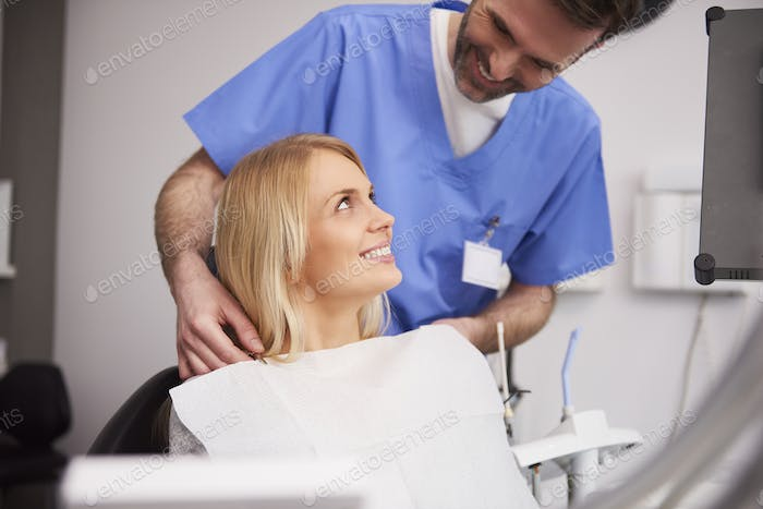 Young woman during dental appointment