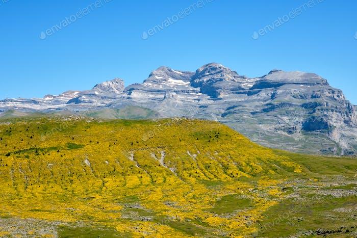 View from Pico Mondoto to the Monte Perdido range