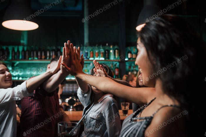 Greetings to you. Beautiful youth have party together with alcohol in the nightclub