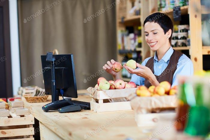 Seller at work