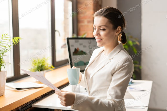 Reading paper by workplace