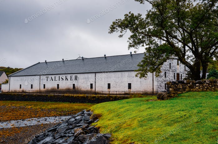 ISLE OF SKYE, UNITED KINGDOM - AUGUST 30, 2013: Talisker distillery