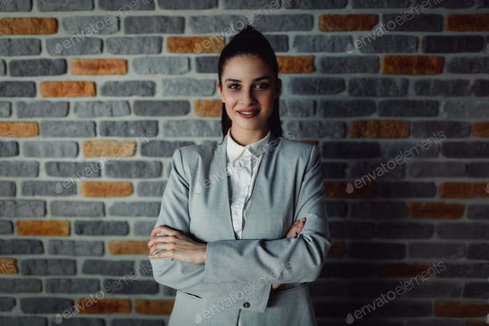 Portrait of beautiful businesswoman.