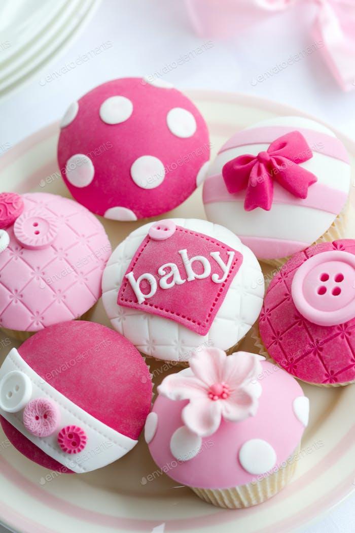 Baby-Dusche Cupcakes