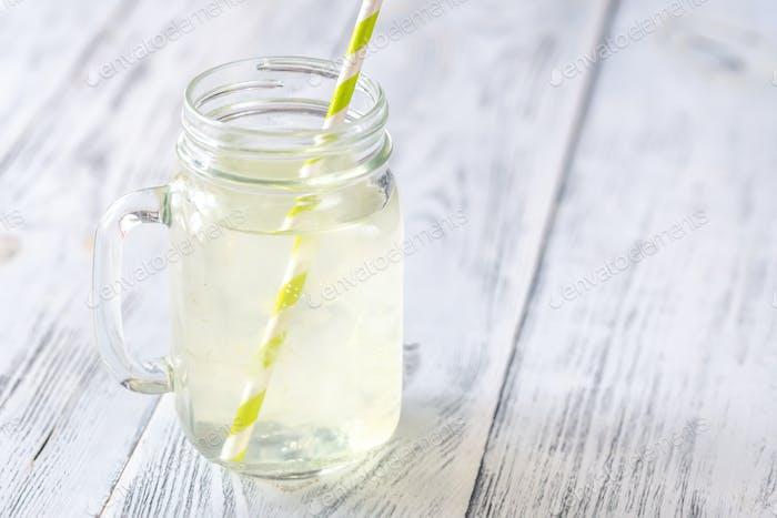 Aloe Vera drink in mason jar