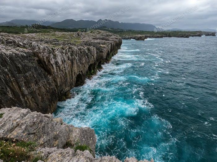 Coastline of Cantabrian Sea