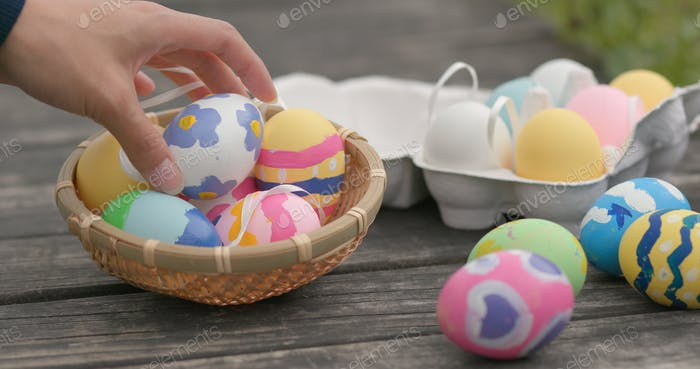 Colorful Easter holiday egg