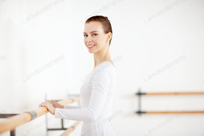 Ballerina during training