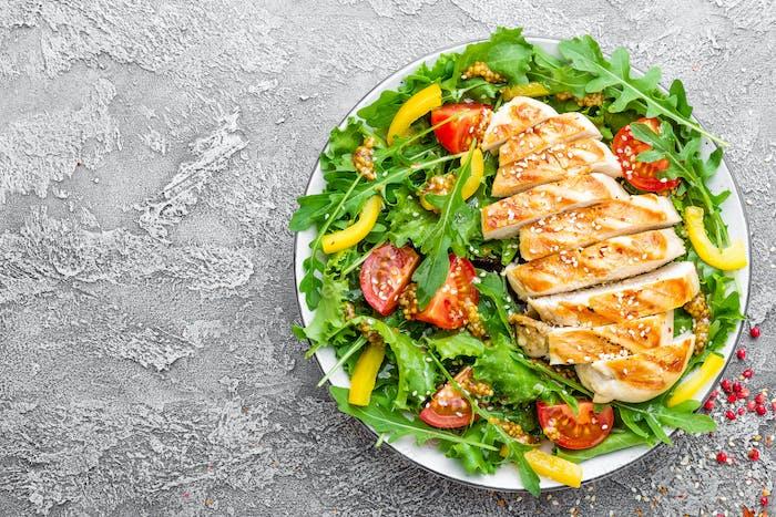 Chicken salad. Meat salad