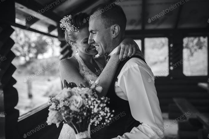 Wedding couple together