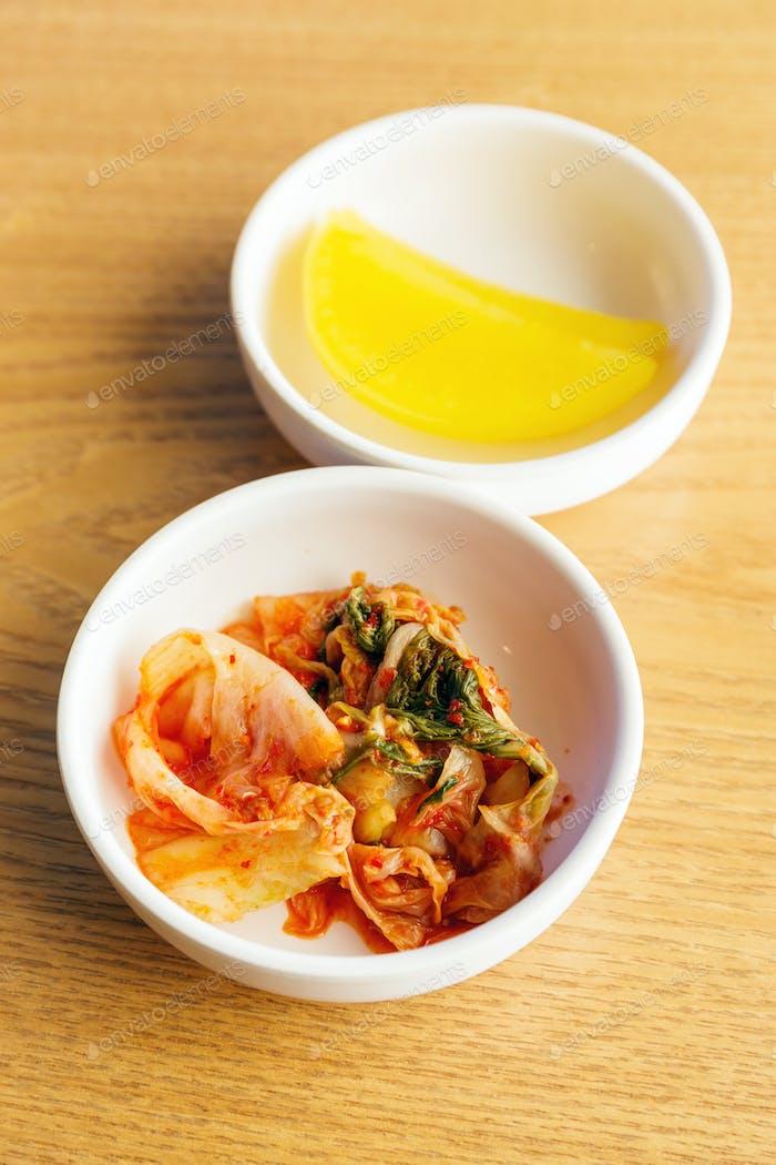 Korean food, kim chi
