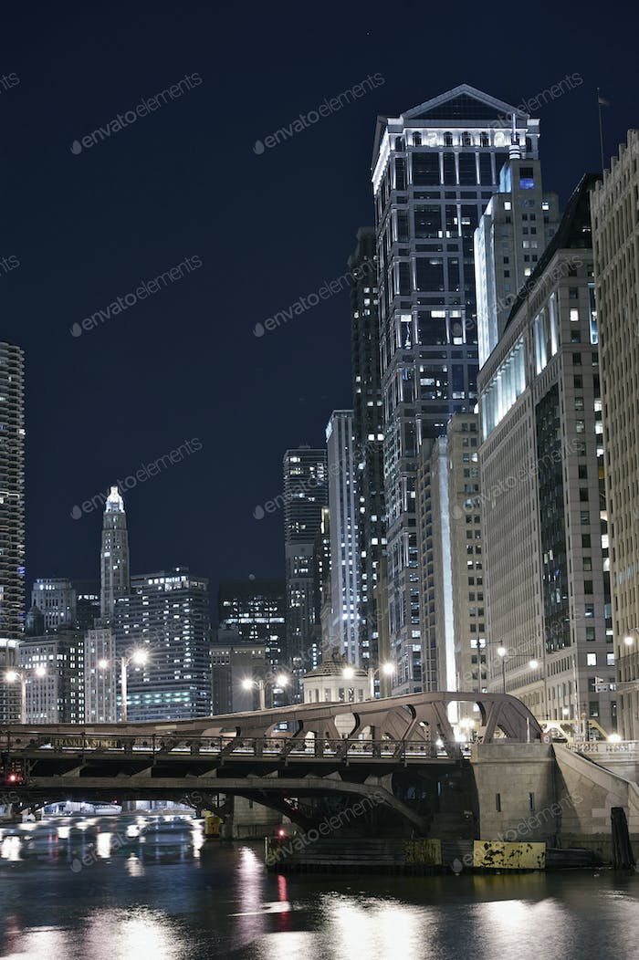 Modern Chicago at Night