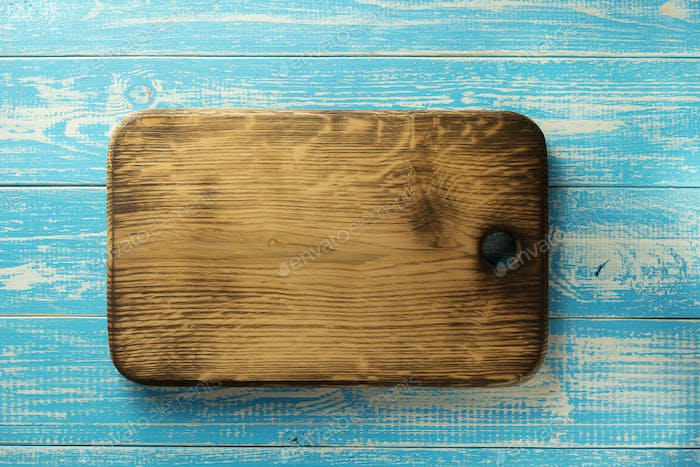 cutting board at table