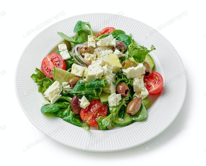 plate of fresh greek salad
