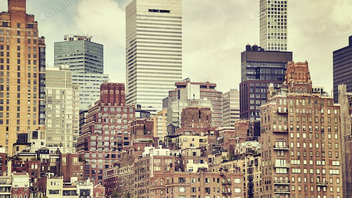 Vintage stylized picture of Manhattan, NYC.