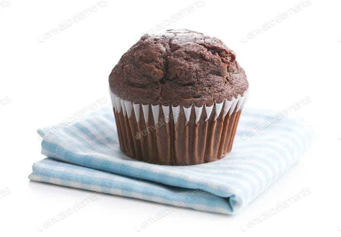 The tasty chocolate muffin.