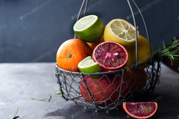 Fresh juicy citrus fruits
