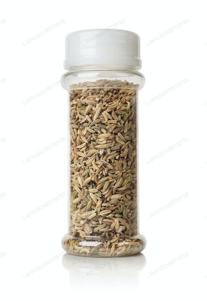 Fennel in a glass jar
