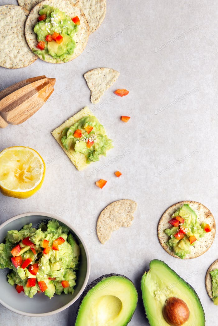 Healthy Gluten Free Snacks with avocado