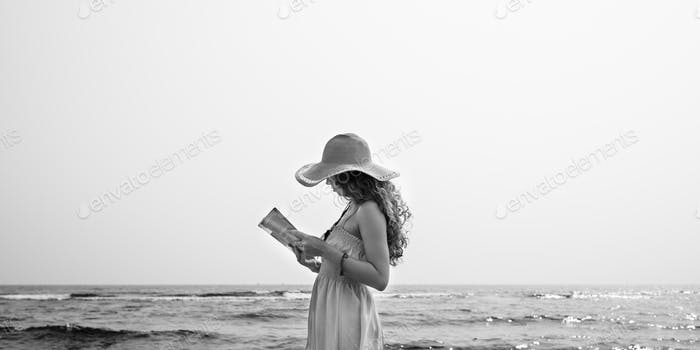 Beach Summer Holiday Vacation Traveling Relaxation Reading Conce