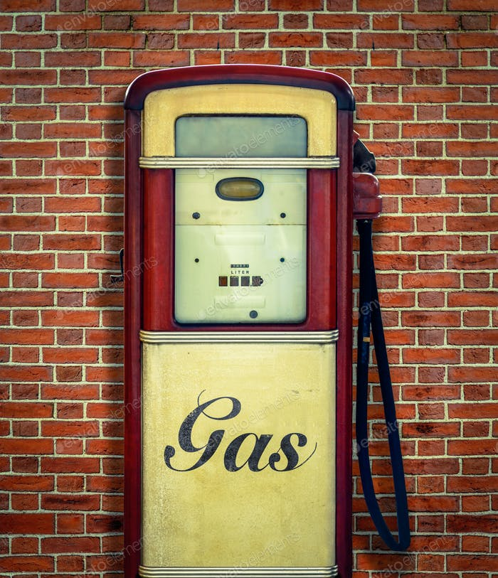 Vintage USA Gasoline Pump