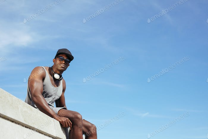 Stylish young african man - Outdoors