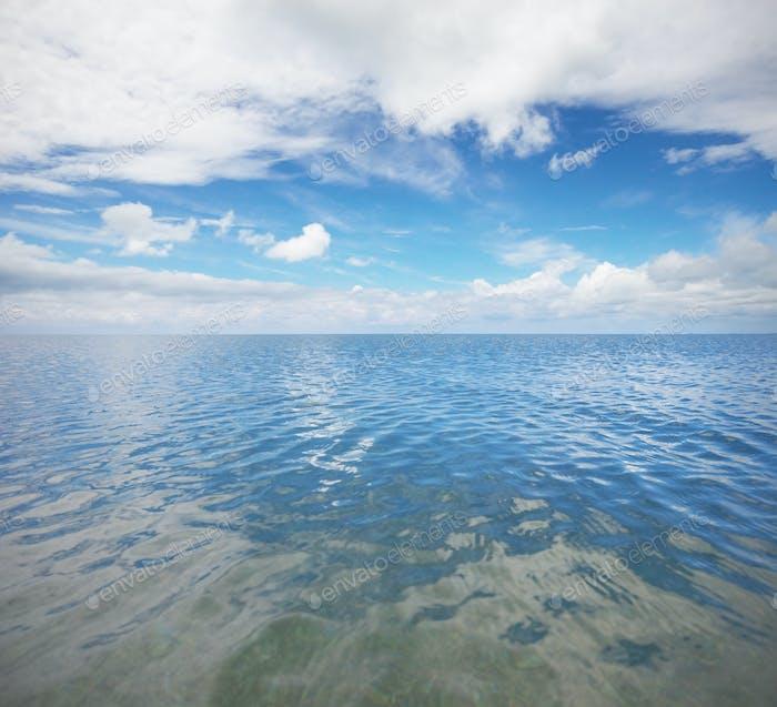 Mar y cielo.