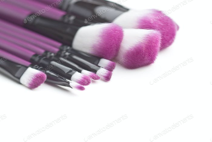 Set of makeup brushes.