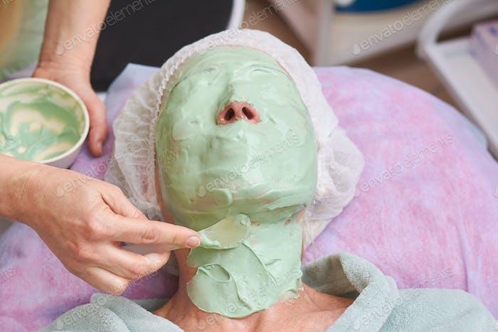 Alginate face mask