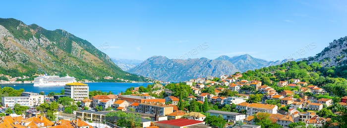 Top view at bay Kotor