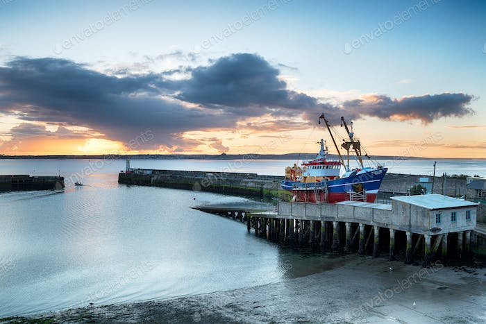 Sunrise over Newlyn Harbour
