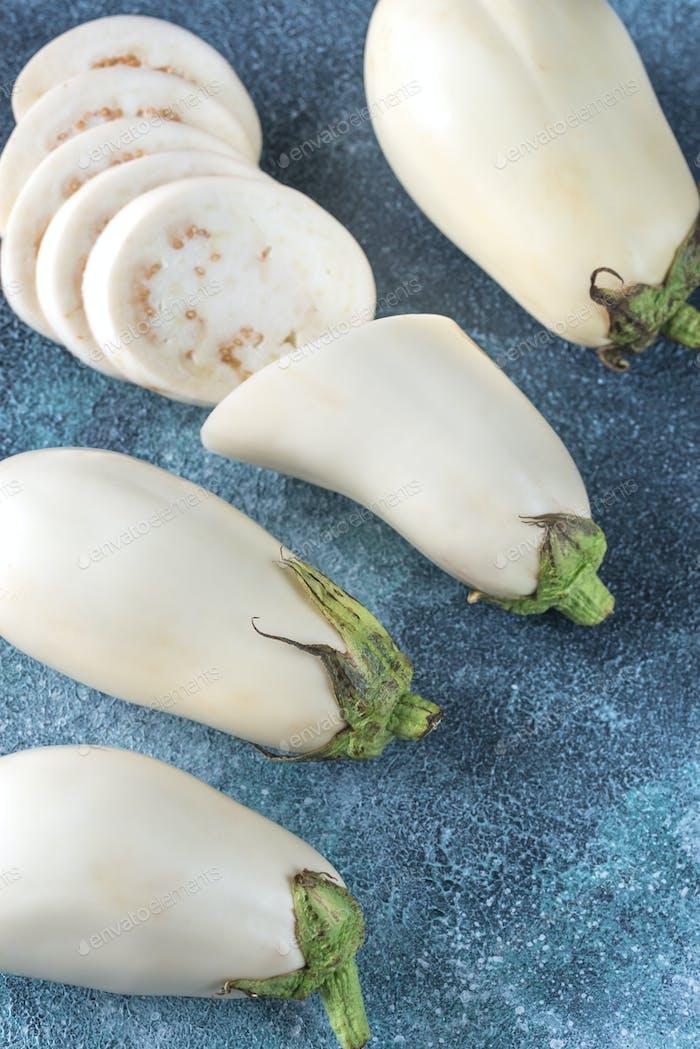 White aubergines