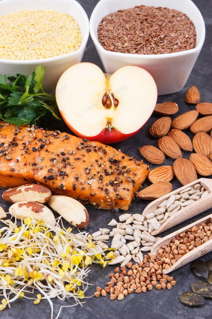 Produkte und Inhaltsstoffe, die Vitamine für gesunde Schilddrüse enthalten