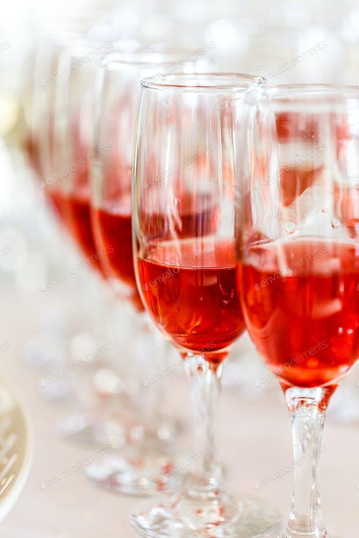 Delicious strawberry champagne
