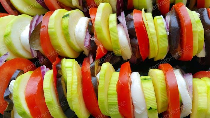 Schneiden Sie Gemüse zum Backen gekocht, Lebensmittel Hintergrund